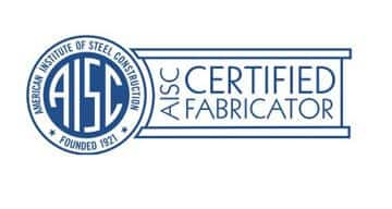 The American Institute of Steel Construction certification logo in blue and white.