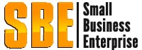 The Small Business Enterprise logo with large yellow initials.