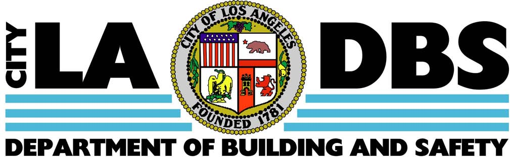 The logo and letterhead for the Los Angeles Department of Building and Safety.